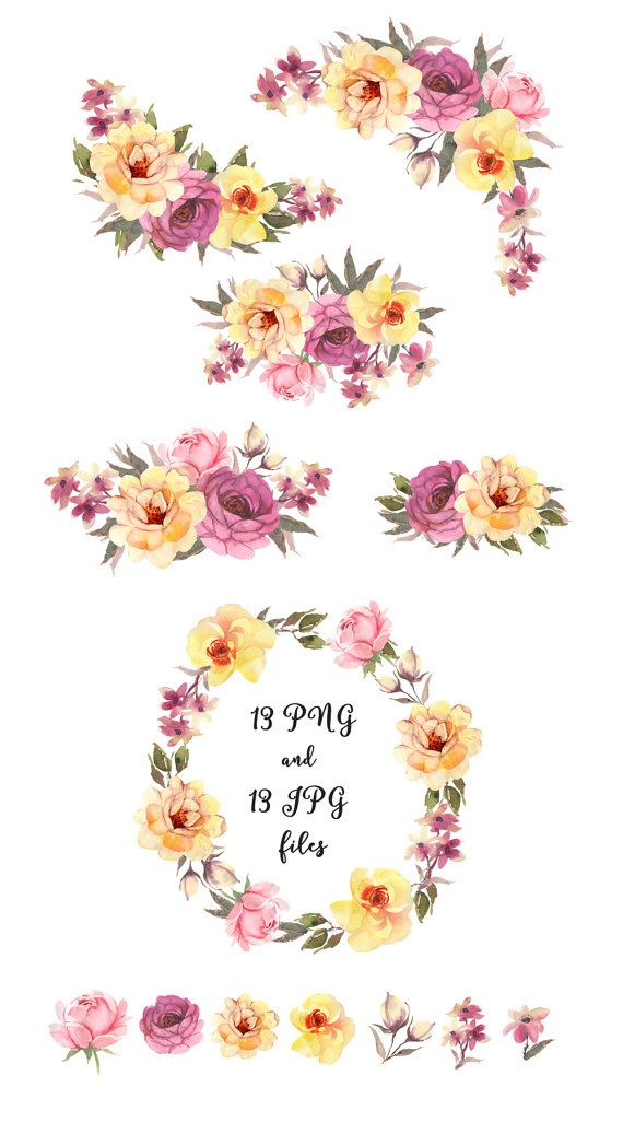 Free Boho Floral Arrow Clipart Floral Watercolor Watercolor