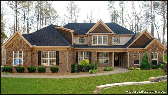 Exterior paint color schemes how much do brick homes for Custom home architect cost