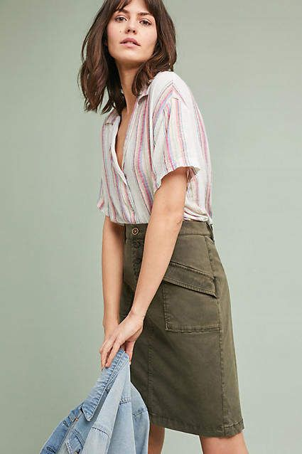 bc67f39075c Pilcro and the Letterpress Pilcro Chino Pencil Skirt.  anthropologie   anthrofave  affiliate