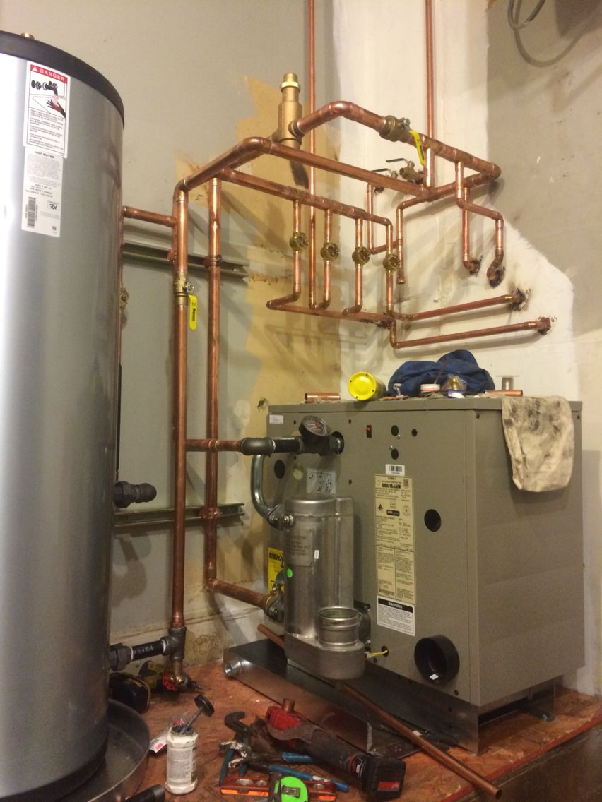 Weil-McLain GV90+ 5 zone boiler! Almost piped! | Work | Pinterest