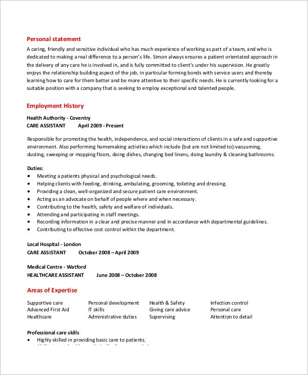 Sample Caregiver Resume Examples Word Pdf Cover Letter For Aged