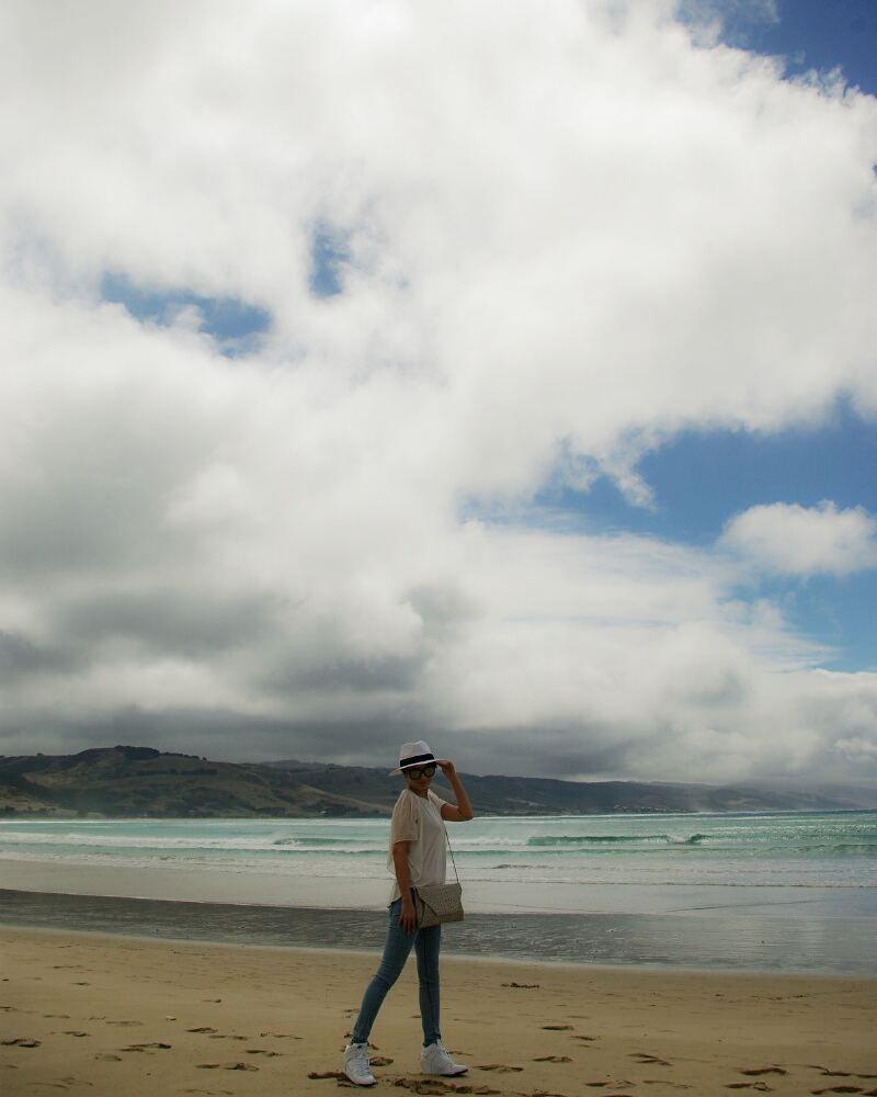 #호주  아름다운 바다. .  #travel #australia #apollobaybeach #greatoceanroad #panamahat #ootd by pegasusming
