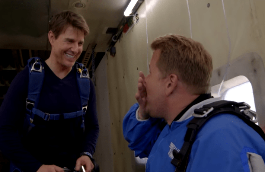 Tom Cruise Forces James Corden To Skydive Tom Cruise
