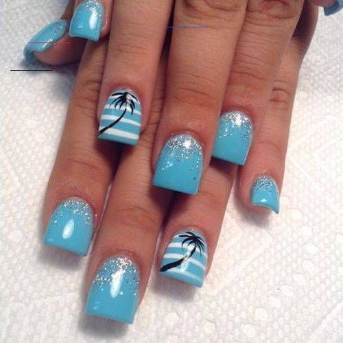 32 Summer Nails That All Feature Palm Trees! - HashtagNailArt.com 32 Summer Nail...#feature #hashtagnailartcom #nail #nails #palm #summer #trees
