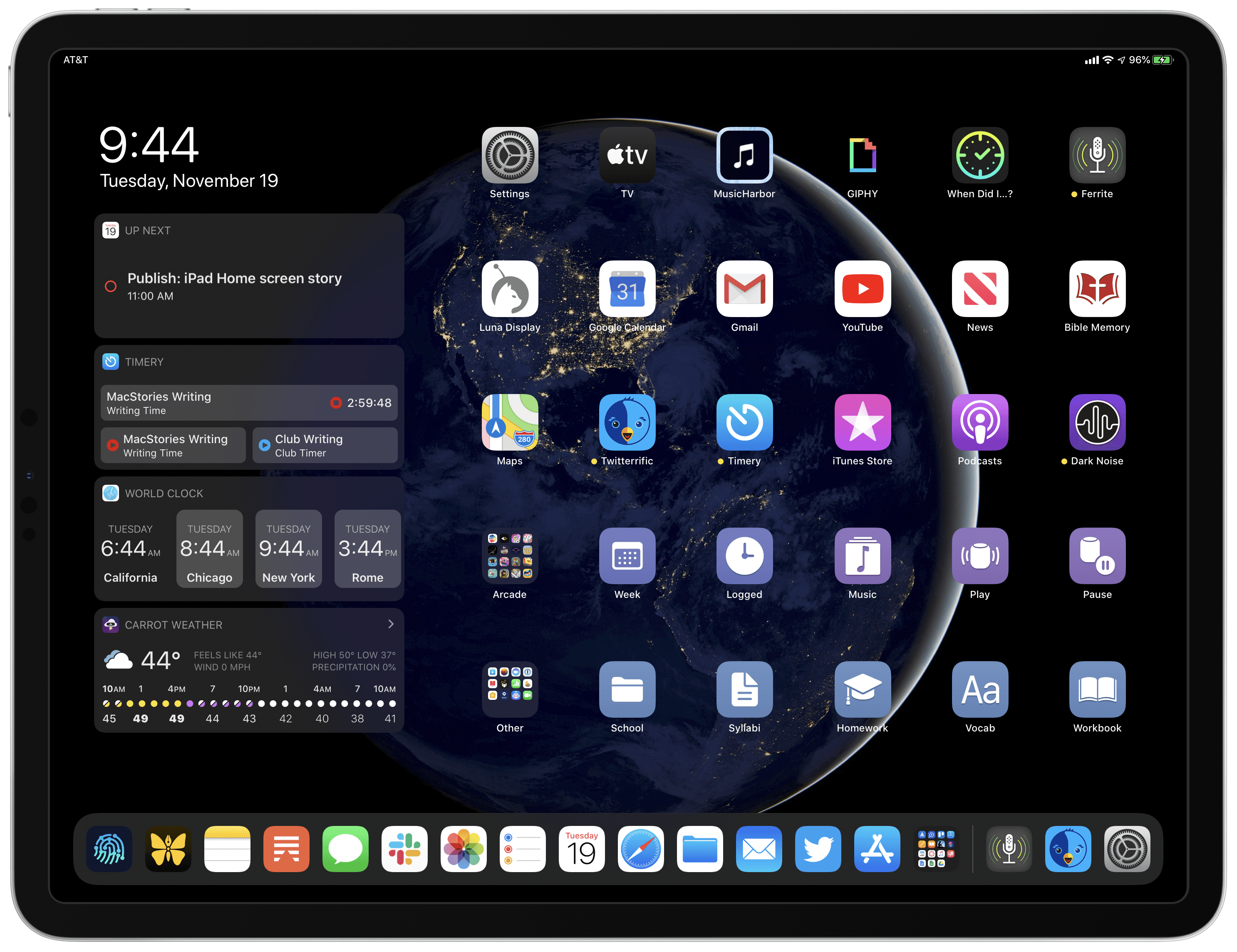 My Modern iPad Home Screen Apps, Widgets, Files, Folders