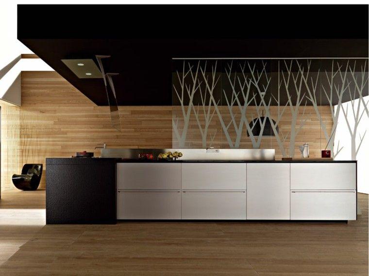 Revestimiento de madera para suelos y paredes cocinas - Revestimiento para paredes de cocina ...