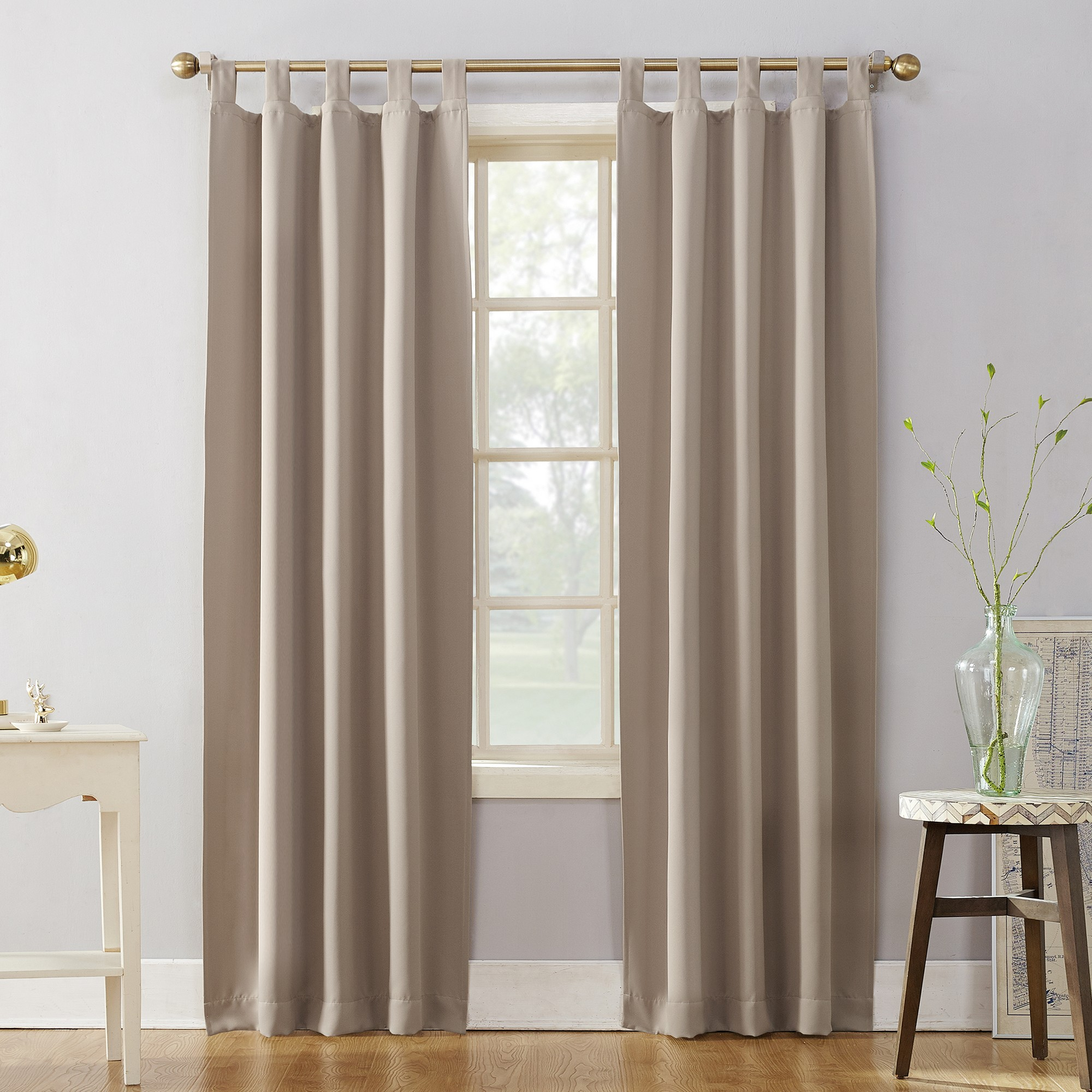 40 X63 Kenneth Blackout Tab Top Curtain Panel Stone Sun Zero Panel Curtains Tab Top Curtains Blackout Panels
