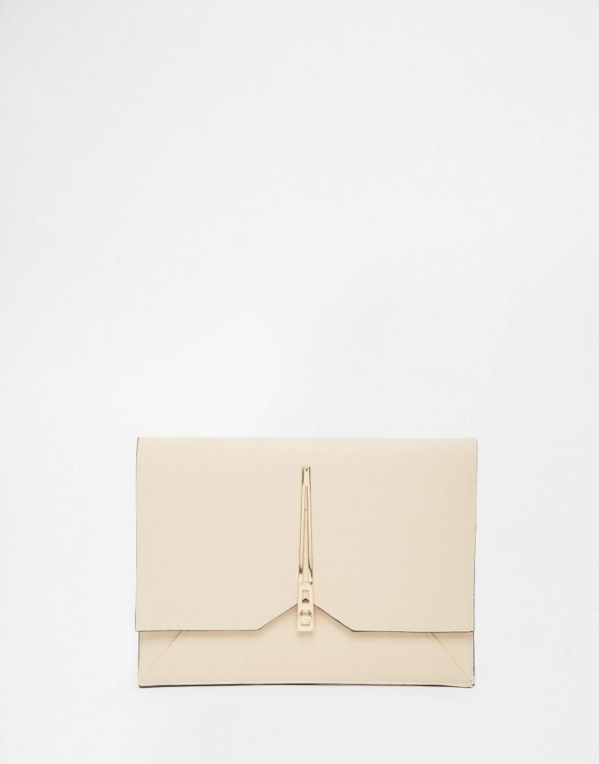 ASOS | ASOS Clutch Bag With Geo Lock at ASOS