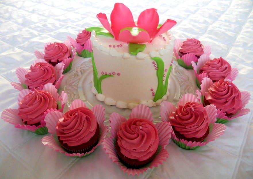 Birthday flower cake birthday cake with flowers happy