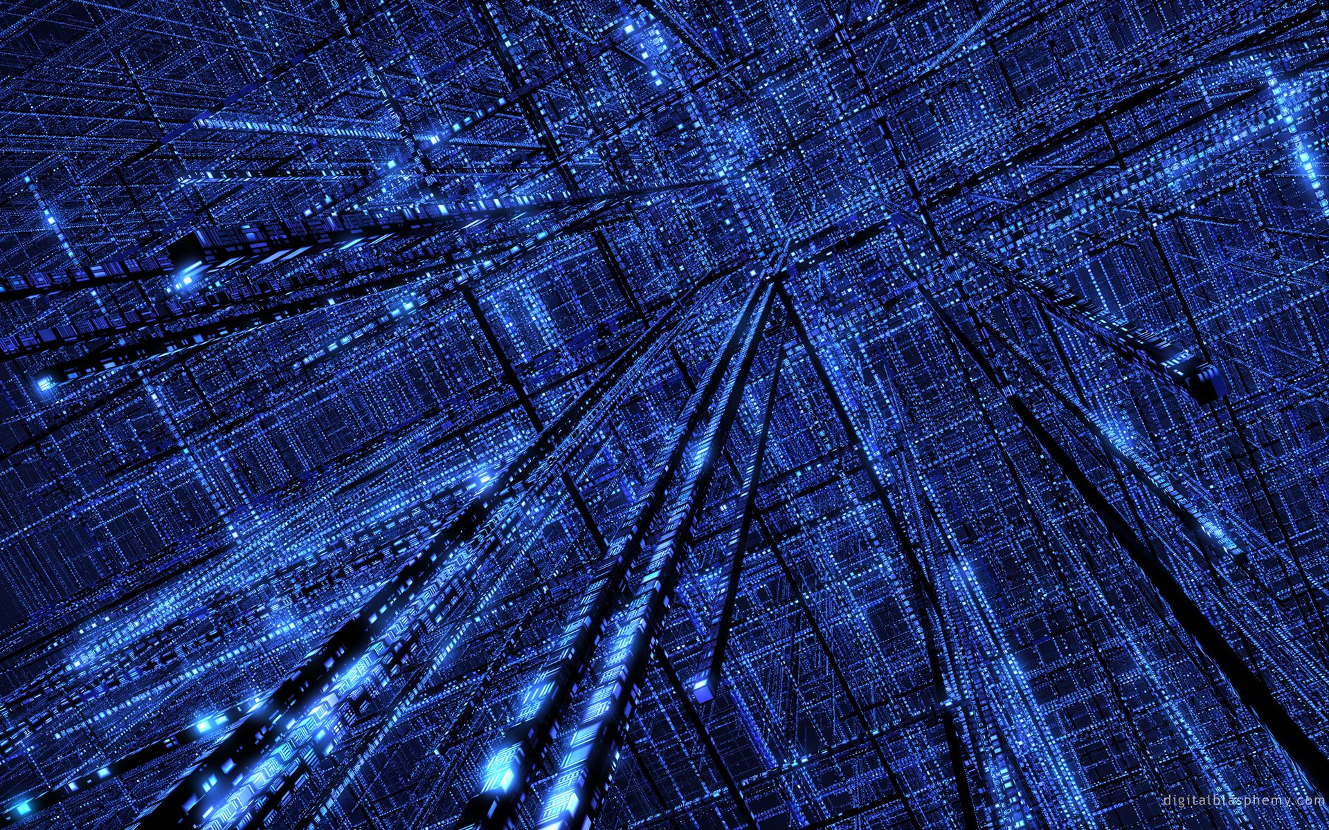 The Grid By Dblasphemy On Deviantart Technology Wallpaper Blue Digital Art Hi Tech Wallpaper