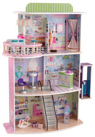 Kidkraft Doll Mall Toys Games Wooden Barbie House Dolls House Shop Kidkraft