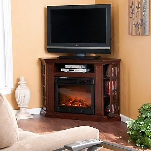 Narita Convertible Media Espresso Electric Fireplace At Hsn Com