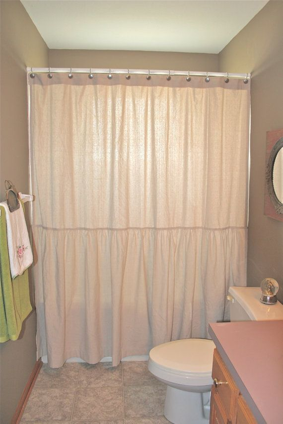 Drop Cloth Painters Cloth Shower Curtain With By Shadesupandco