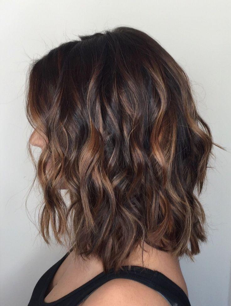 Balayage On Short Dark Hair Short Hair Pinterest Short Dark