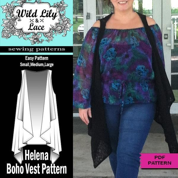 Cascading Vest | Sewing patterns, Patterns and Sew simple