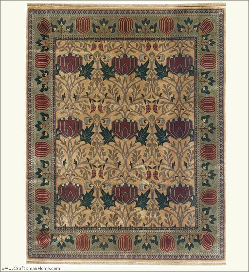 Arts And Crafts Rug Craftsman Style Carpet By The Persian Carpet 100 Wool Oak Park Rug Possibly For Dining R Craftsman Rugs Handmade Oriental Rugs Rugs