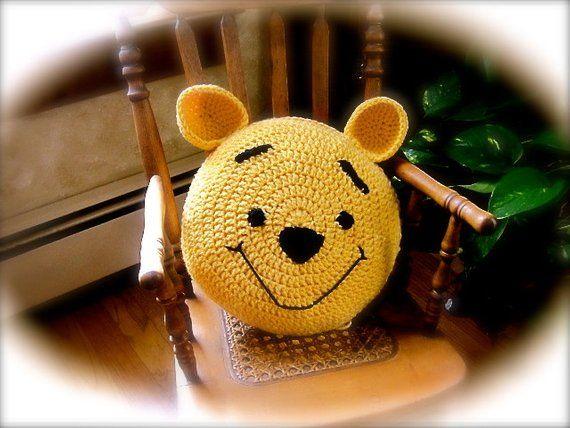 Crochet Bear Pattern - Crochet Pillow - Child's Pillow Pattern, Nursery Decor - crochet bear #crochetbearpatterns