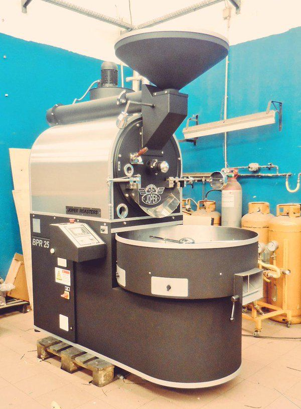 This Monster Should Arrive Very Soon Just Finished The Build Over In Porto Roaster Coffee Joper Coffee Roasting Coffee Cafe Coffee