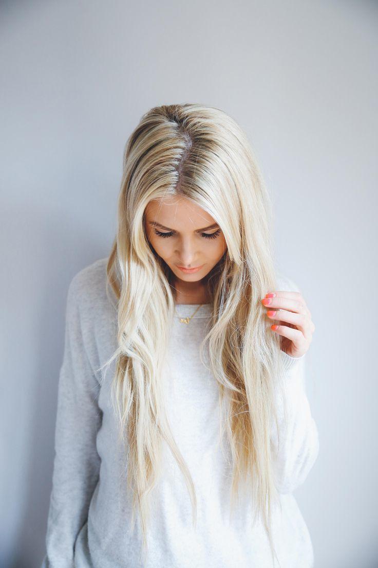 Blondierte Haare Strohig