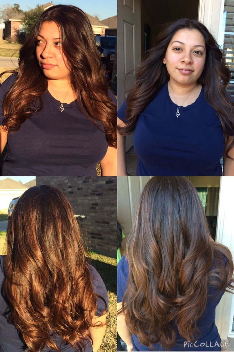 Chocolate Brown Hair With Chestnut Balayage Highlights First Time