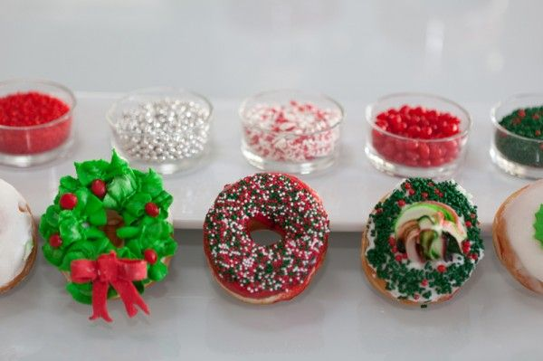 That S Handmade Christmas Doughnuts From Jelly Modern Doughnuts Christmas Donuts Donut Decorations Christmas Brunch