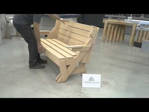Multifunctionele Indoor Picknicktafel : Multifunctionele tuintafel verbruggen timmerfabriek schijndel