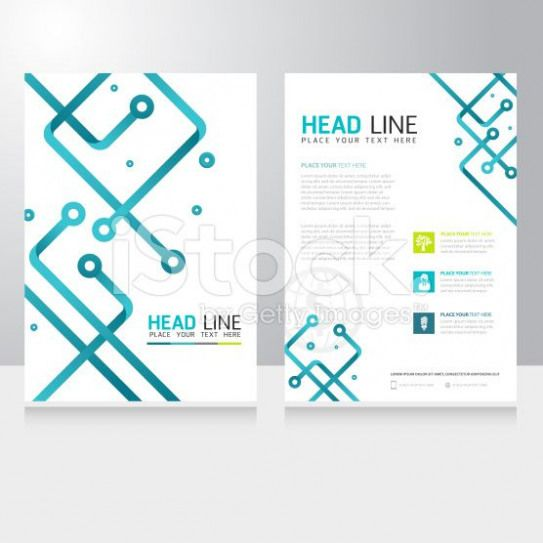 Abstract Technology Business Brochure Flyer design vector template royalty-free stock vector art
