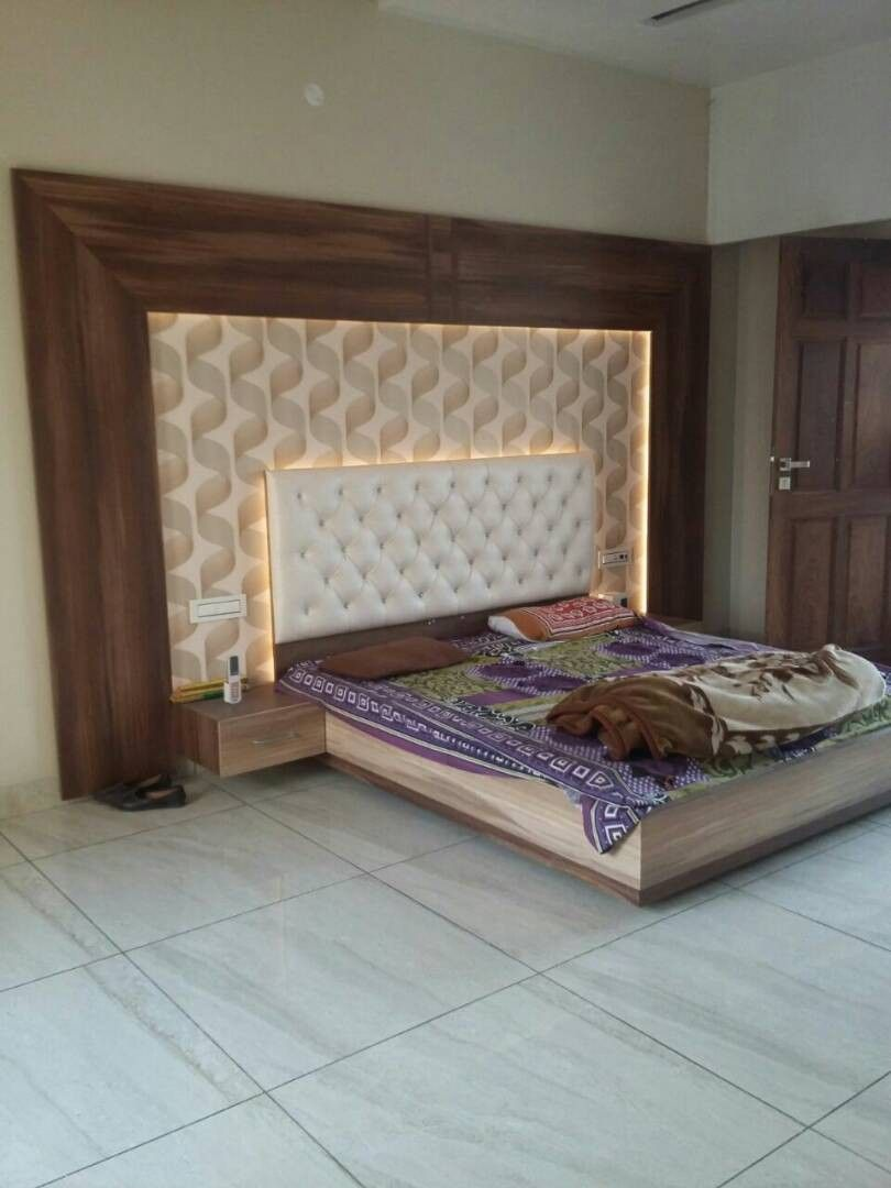 Pin by wood working idea on bed design in 2019 | Bedroom wall ...
