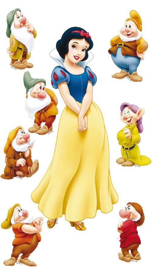 A Picture Of Snow White and The Seven Dwarfs for Android Wallpaper #snowwhite