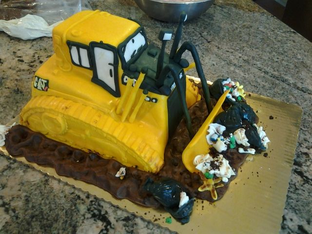 Cat Tractor Grooms Cake Caterpillar Construction Themed