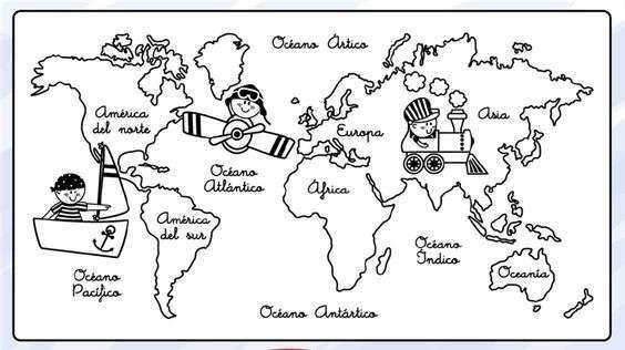 El Dibujo Mas Bonito Del Mundo Para Colorear: Mapas Para Pintar: Descarga Gratis Los Más Bonitos