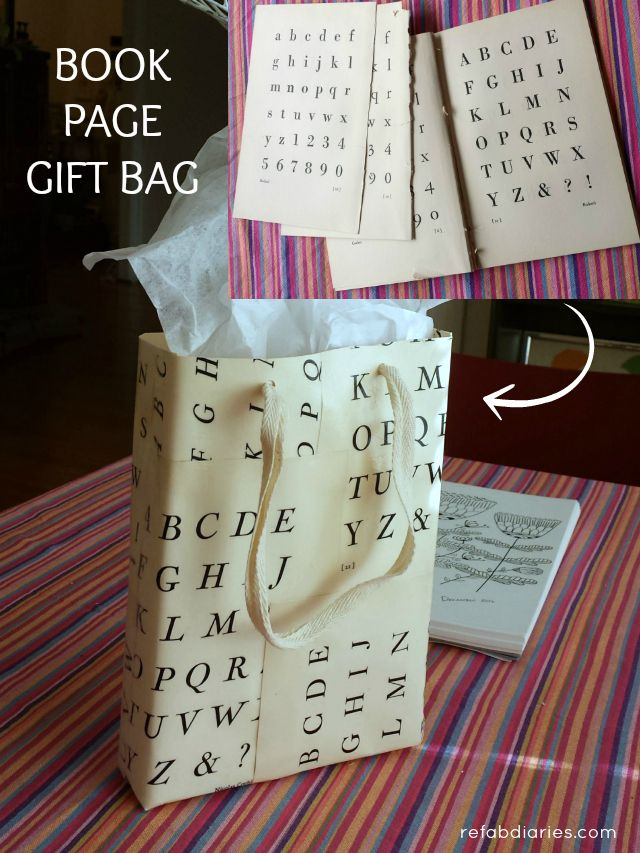 Diy Book Page Gift Bag Great Way To Give Old Paper A New Life