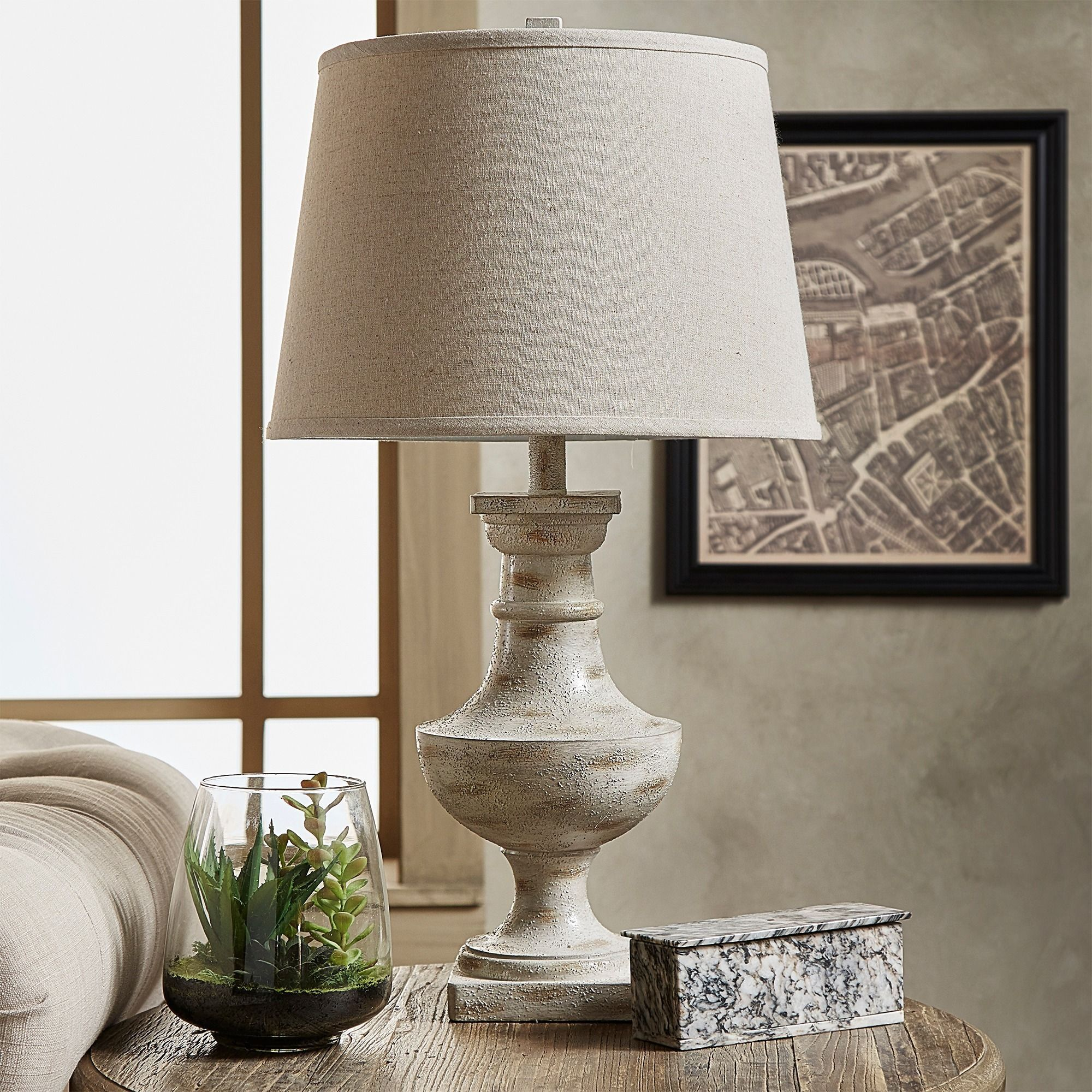 Tribecca Home Hyperion Sanded & Rustic(190) Table Lamps: Brighten your home with beautiful table ... azcodes.com