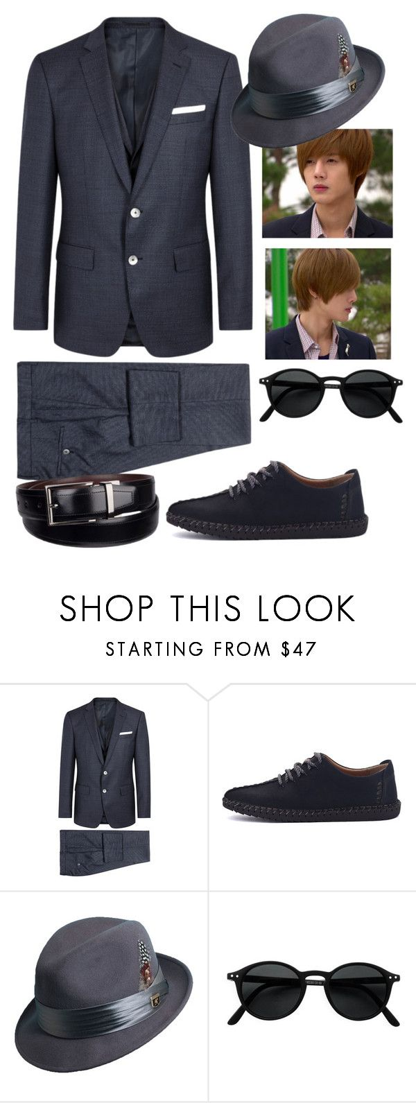 """its a man's world"" by ivyfanfic ❤ liked on Polyvore featuring BOSS Black, Stacy Adams, Dockers, men's fashion and menswear"