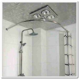 Shower Curtain Rod For Corner Image Shower Curtain Rods