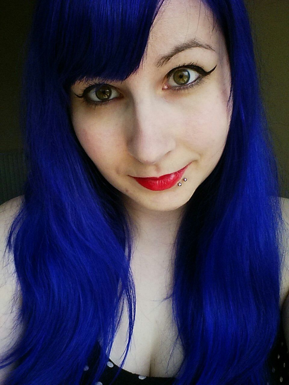 My Favourite Hair Colour So Far Manic Panic Blue Moon Edgy Hair Manic Panic Blue