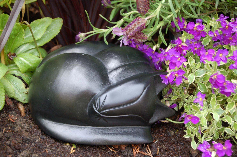 Sleeping Cat Ashes Casket (Black)/Cat Ashes Urn/Cat