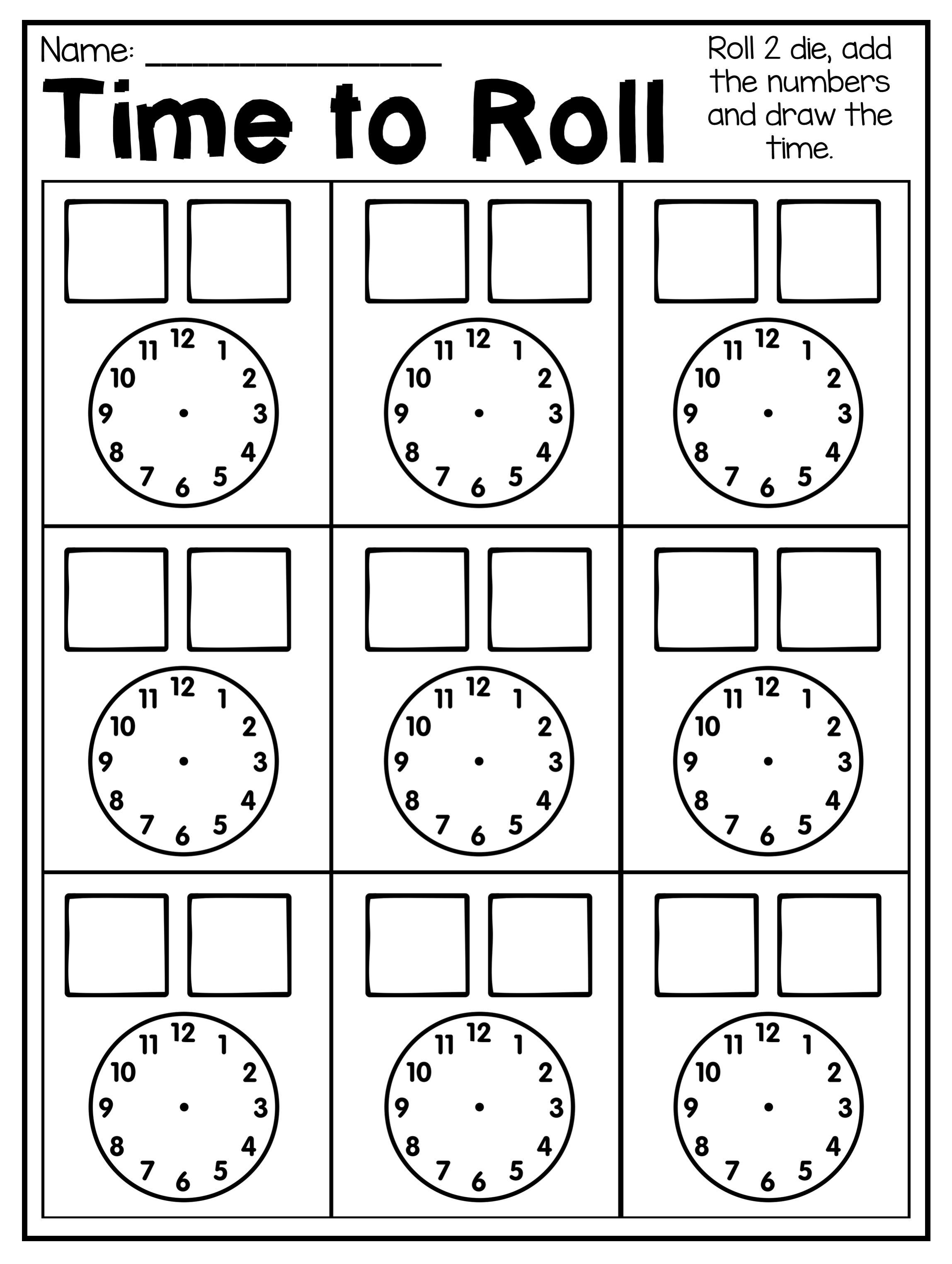 First Grade Time Worksheets