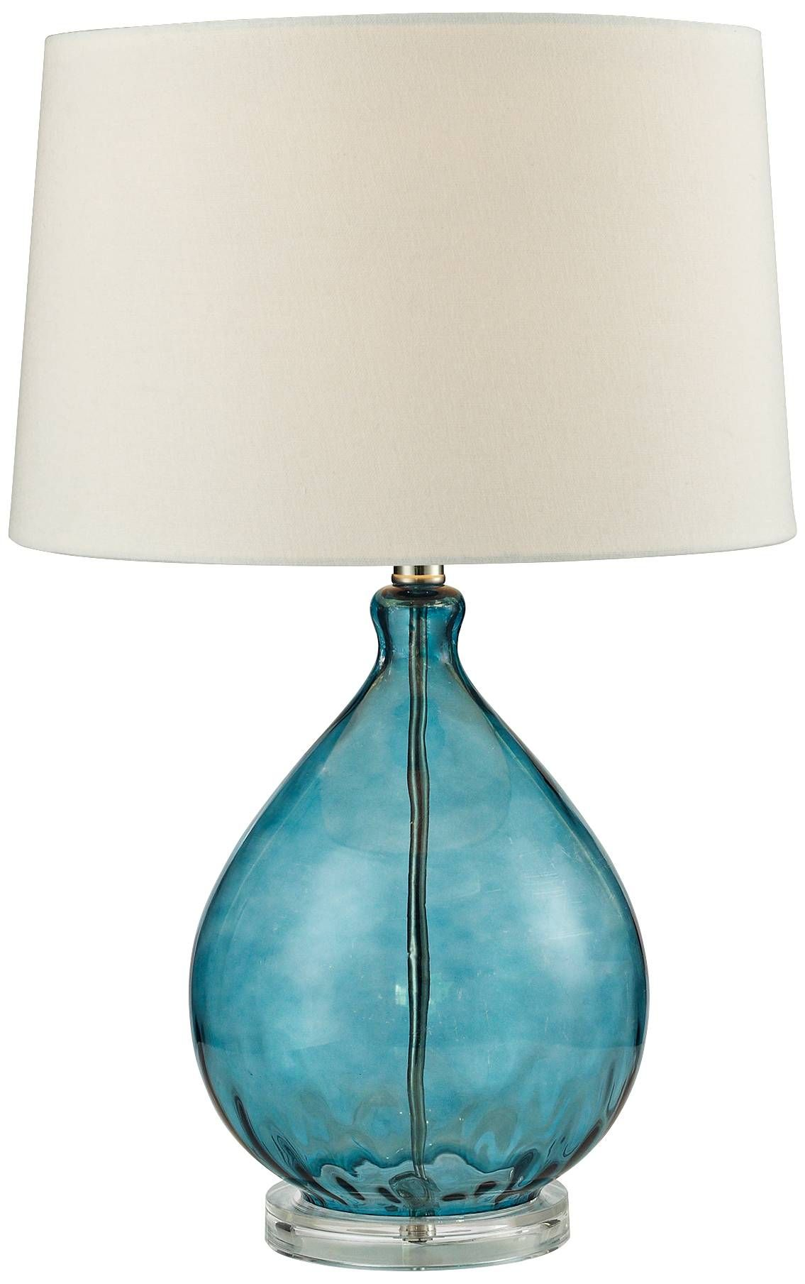 Lamp Works 701 Table Lamp With Clear And Teal Glass Set Of 2 Lighting Universe Table Lamp Lamp Glass Set