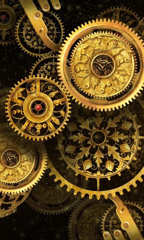 404 Not Found Steampunk Wallpaper Clock Wallpaper Steampunk Artwork