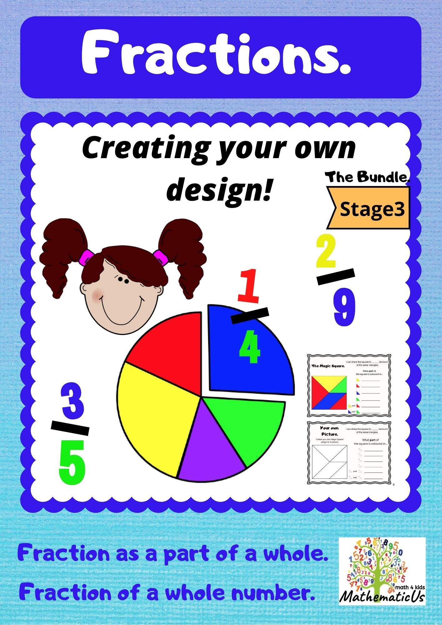 Fractions Creating Your Own Design Stage 3 Fractions Learning Fractions Time Worksheets [ 2000 x 1414 Pixel ]