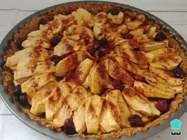Tarta De Manzana Y Arándanos Vegana Irresistible Receta Tarta De Manzana Postre De Manzana Facil Recetas Con Manzana