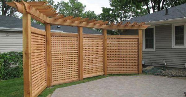 1000 Ideas About Lattice Fence On Pinterest Fence Ideas Backyard Privacy Privacy Fence Designs Backyard Fences