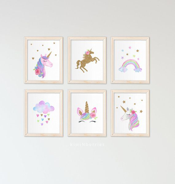"Handmade Nursery Girls Bedroom Canvas Picture 12/"" x 16/"" Magical Dreams Glitter"