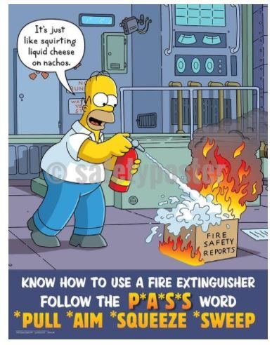 Know How To Use A Fire Extinguisher Follow The Pass