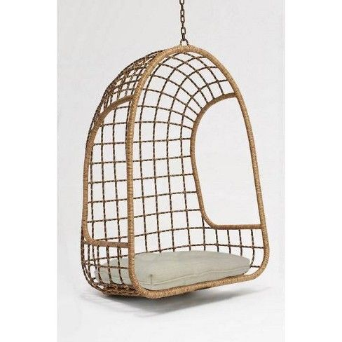 Groovy Hanging Wicker Egg Chair Beige Opalhouse In 2019 Unemploymentrelief Wooden Chair Designs For Living Room Unemploymentrelieforg