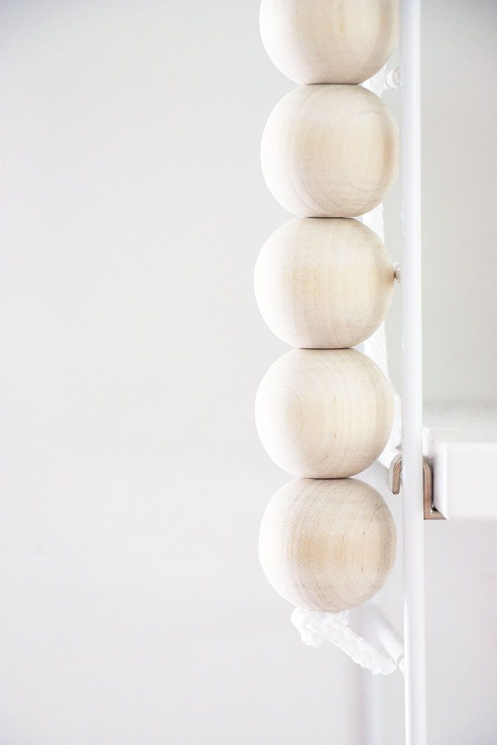 Sort of pink.: Wooden ball decoration.