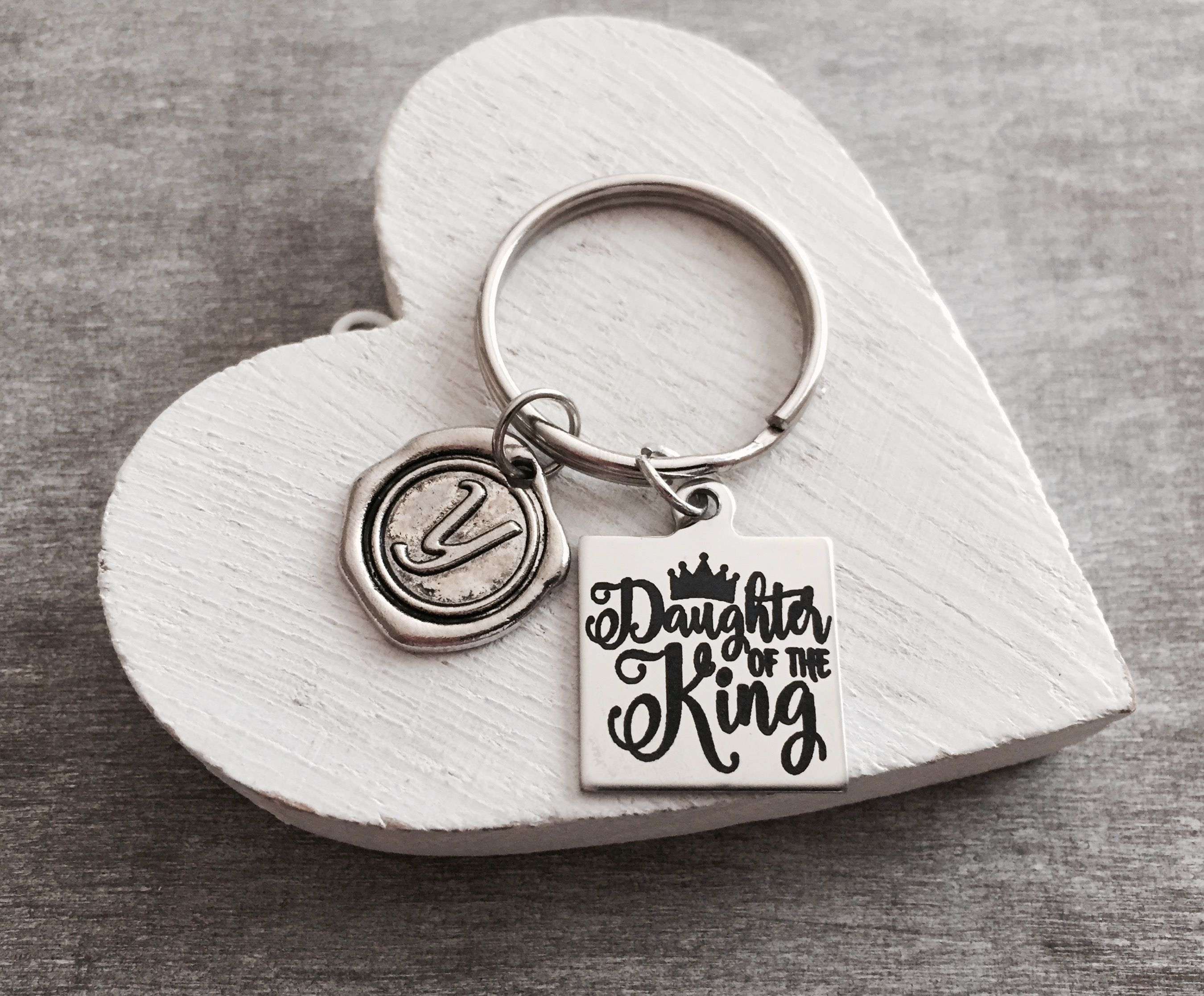 Daughter of the king gifts scripture faith religious daughter of the king gifts scripture faith religious christian bible verse silver keychain silver keyring healing silver jewelry negle Images