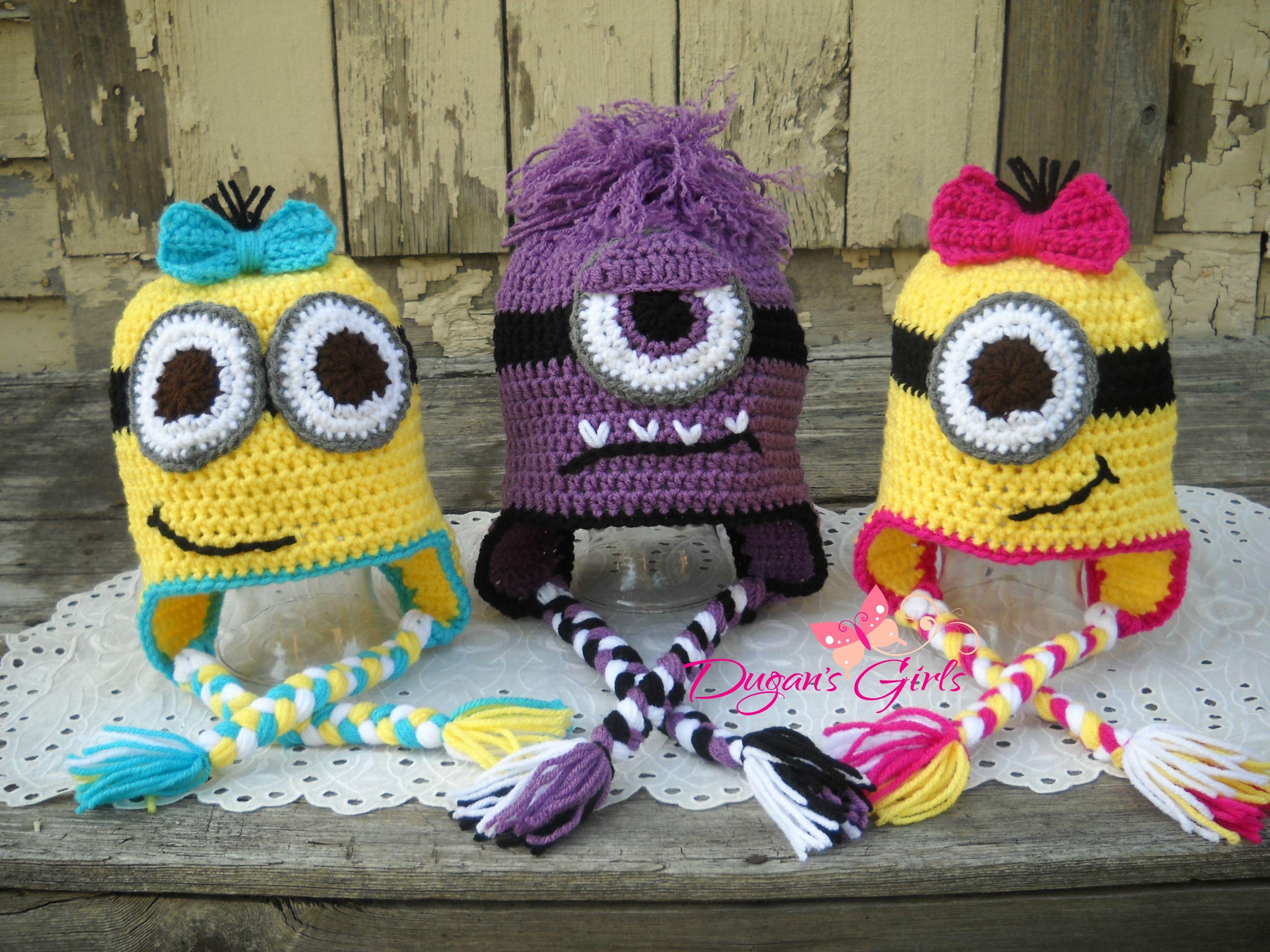Crochet by Dugan\'s Girls {Minion Beanie} | Dugan\'s Girls | Pinterest ...