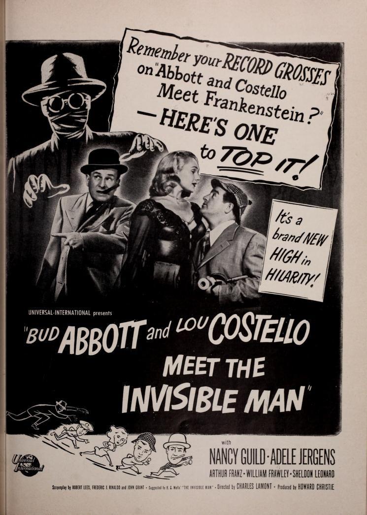 Film Bulletin 1951 Abbott Costello Classic Movie Posters Film